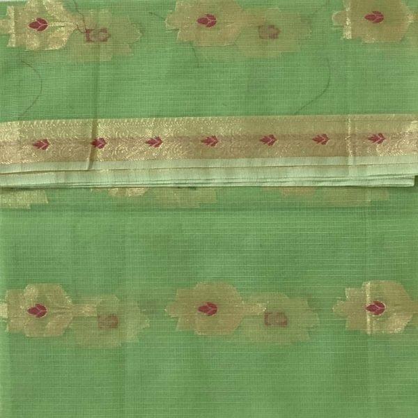 Kota Doriya Olive Green Color Unstitched salwar kameez