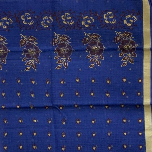 Kota Doriya Green Color Suit-Dupatta Unstitched Fabric - 100% Cotton