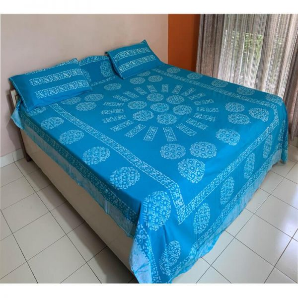 Dodger Blue Color Bedsheet