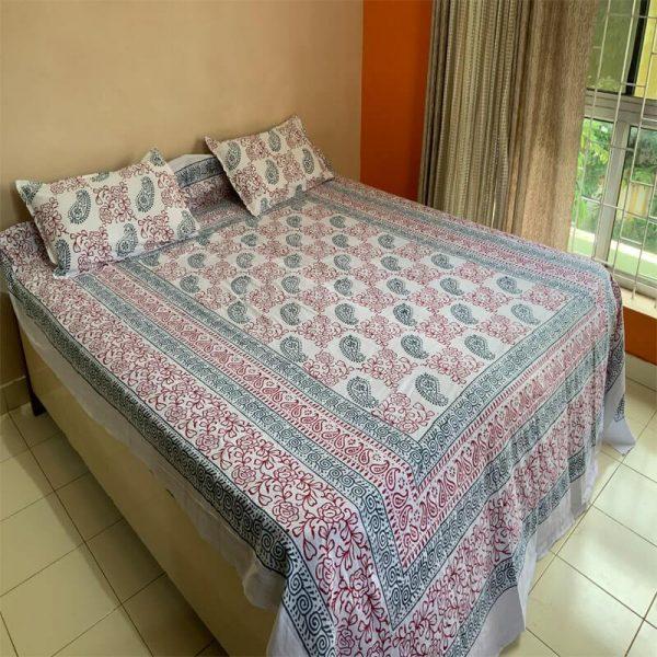 Block Double Bedsheet
