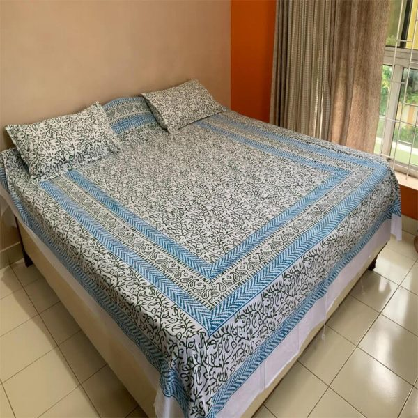 Block Bedsheet with Pillow Cover