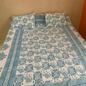 Block Print Blue Bedsheet