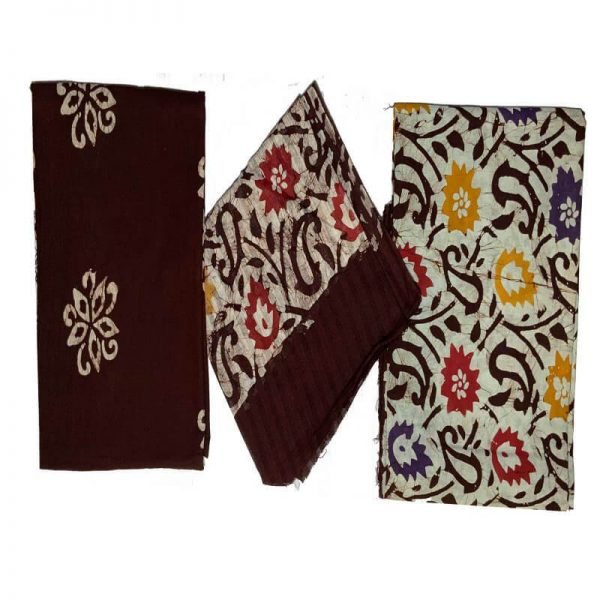 Batik Print Brown Color Salwar Suits