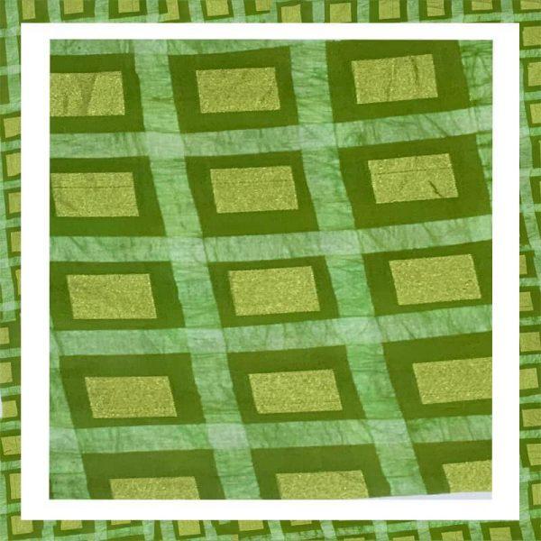 Batik Print Light Green Salwar Suits Zari Work Material