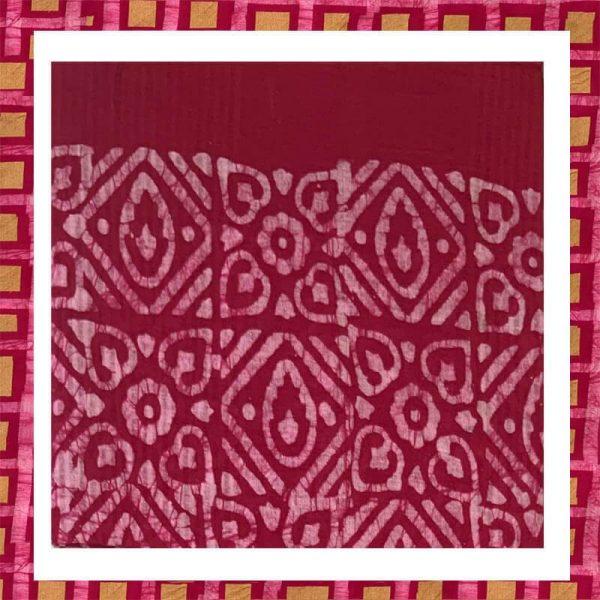 Batik Print Pink Color Salwar Suits Zari Work