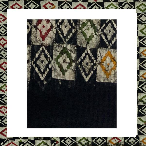 Batik Print Black  Salwar Suit
