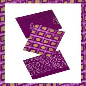 Batik Print Pink & purple Color Salwar Suits Zari Work Material