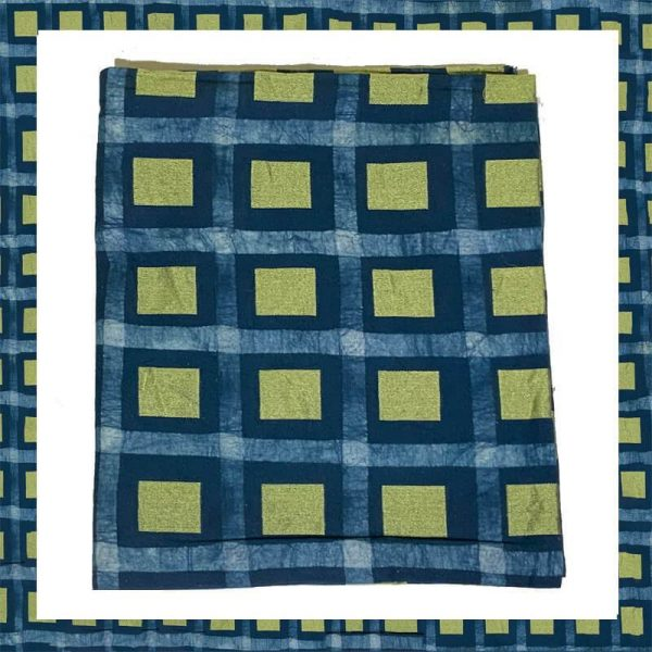 Batik Print Denim Blue Color Salwar Suits Zari Work Material