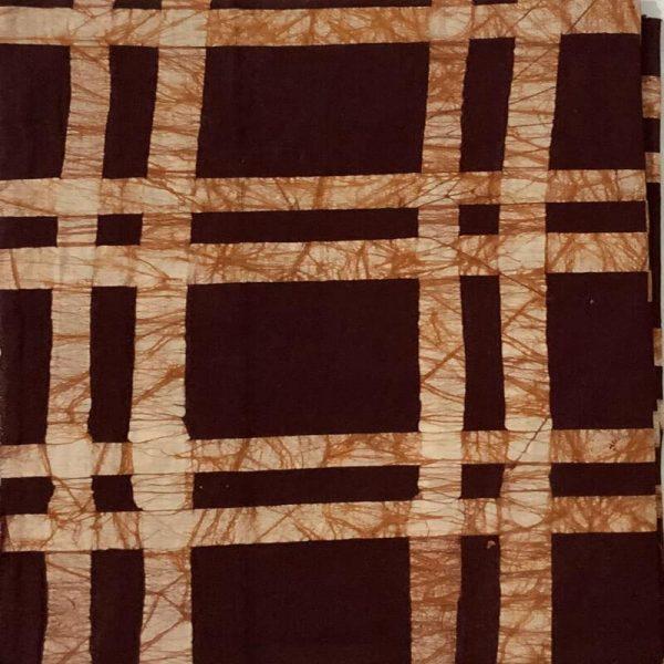 Batik Print Brown Unstitched Salwar Kameez (Salwar Suit) Fabric- 100 % Cotton