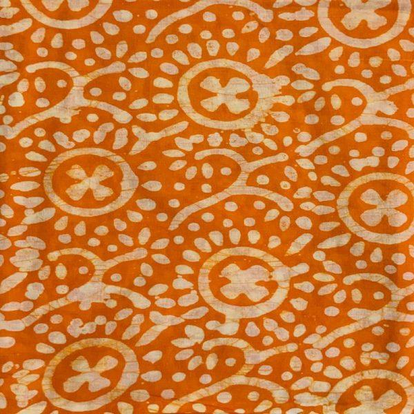 Hand Print Batik Salwar Suit Fabric-Zari Top- Cotton Dupatta- Cambric Bottom - 100 % Cotton