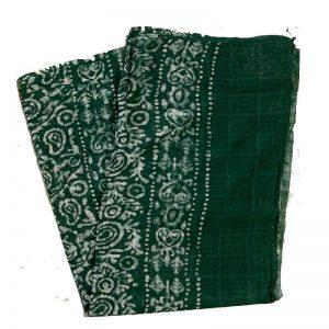 Batik Print Green Salwar Suit (Salwar Kameez) Fabric- 100 % Cotton