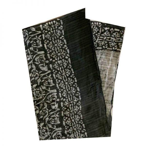 Batik Print  Olivine Green Unstitched Salwar Kameez (Salwar Suit) Fabric- 100 % Cotton