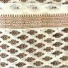 Hand Made White & Chocolate Block Print Salwar Suit Fabric 100% Cotton