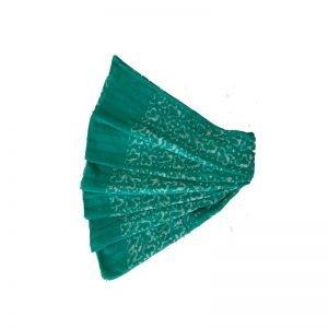 Hand Print Batik Sky Blue Salwar Suit Fabric - 100 % Cotton