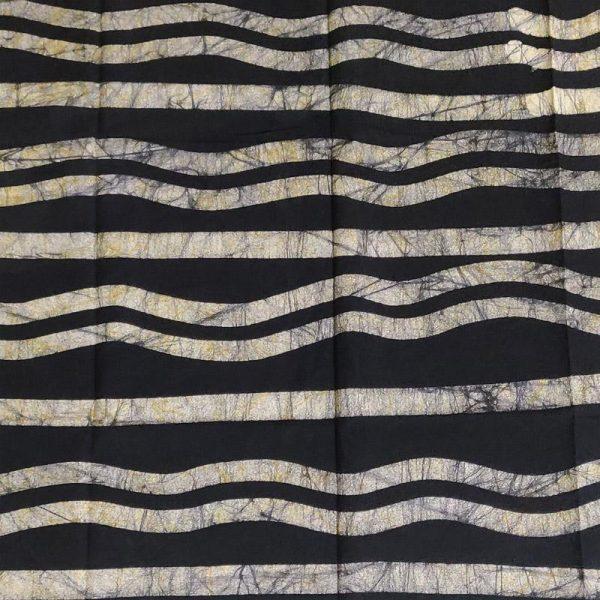Hand Batik Print Black Suit Fabric- 100 % Cotton