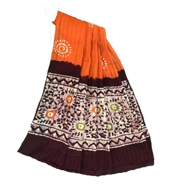 Hand Batik Print  Suit Fabric- 100 % Cotton
