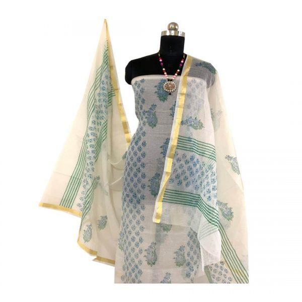 Kota Doria Light Grey Kurta And Dupatta fabric   कोटा डोरिया सलवार सूट