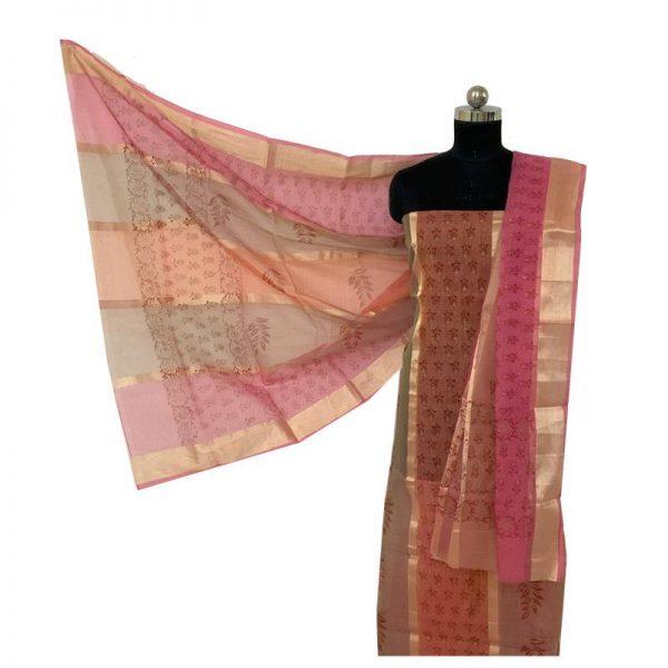 Kota Doriya Premium Unstitched Suit Dupatta Fabric - 100 % Cotton