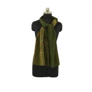 Hand Batik Print Dark Green Premium Stole
