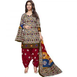 Batik Print Multicolored Stitched Salwar Suit