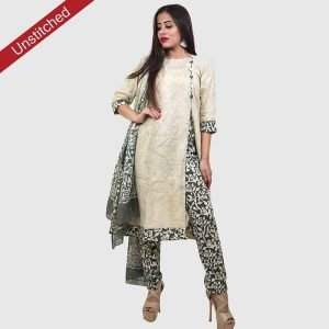 Batik Print Light Green Salwar Suit