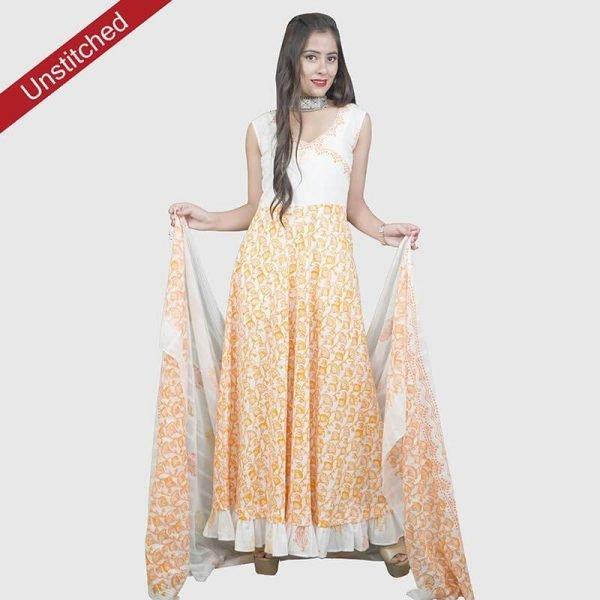 Block Print Unstitched Salwar Suit