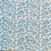 Block Print Ladies White (Blue And Orange Combination) Unstitched Salwar Kameez With Malmal Dupatta (Salwar Suit) Fabric - 100 % Cotton