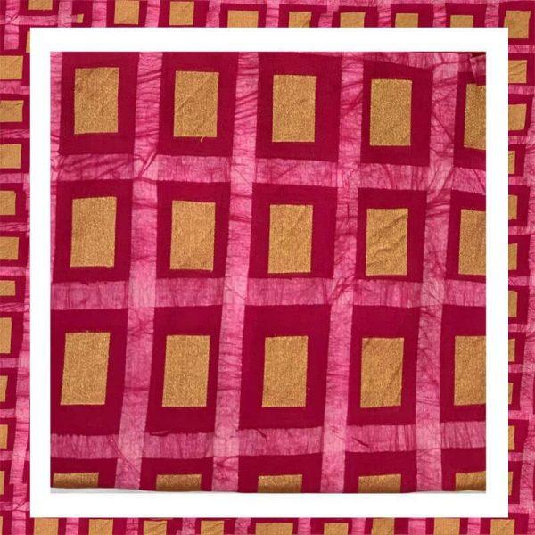 Batik Print Zari Border Suits