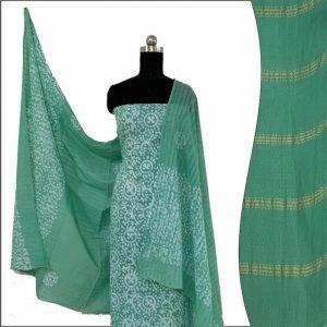 Hand Print Batik Salwar Suit Fabric 100 % Cotton