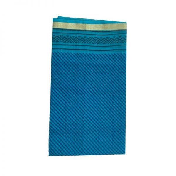 Kota Doria Sky Blue Unstitched Kurta Fabric