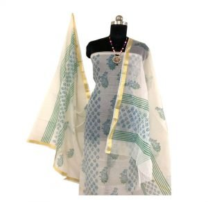 Kota Doria Light Grey Kurta And Dupatta fabric | कोटा डोरिया सलवार सूट