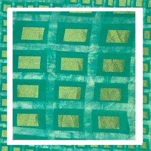 Zari Work Batik Print Salwar Suits