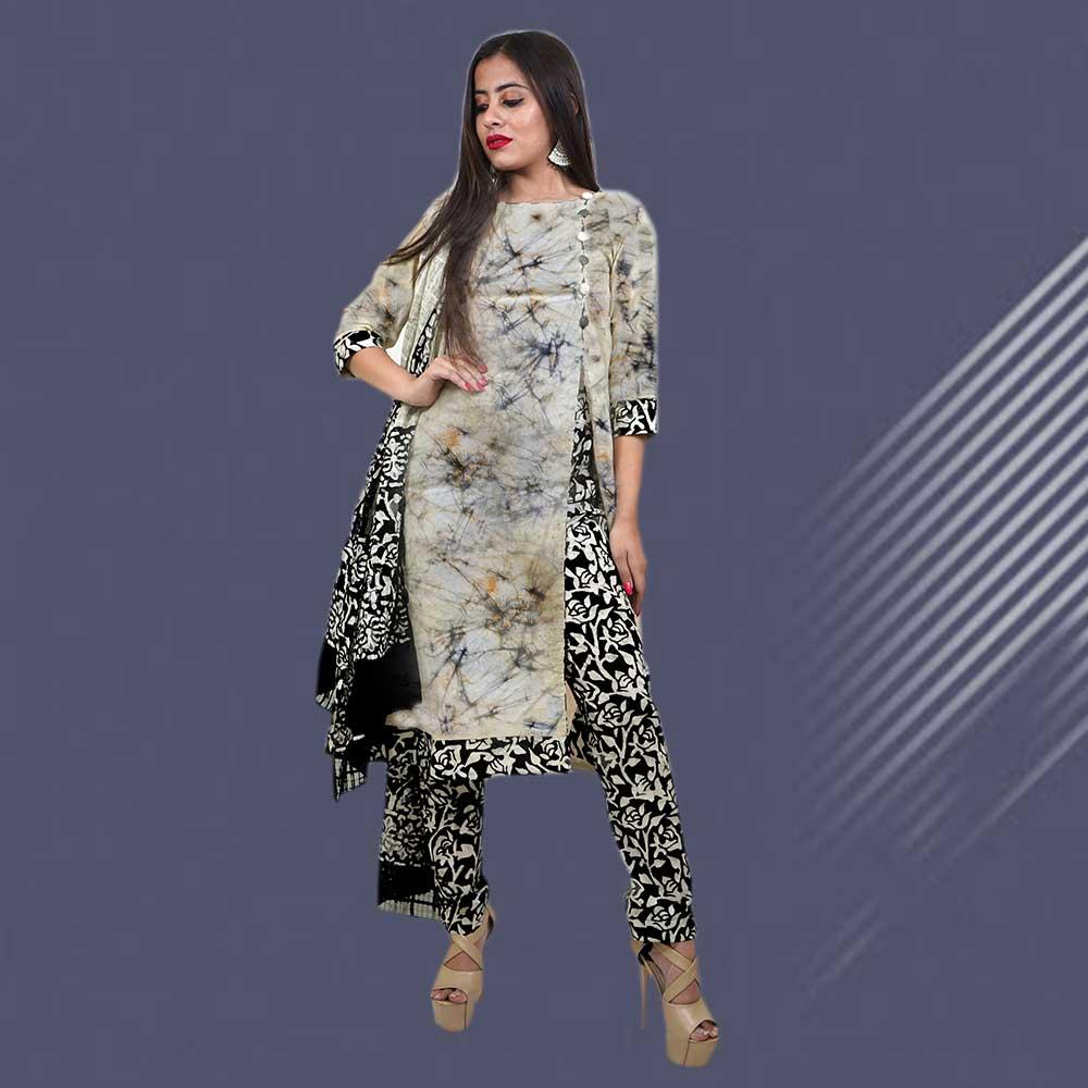 Batik Print Unstitched Salwar Suit